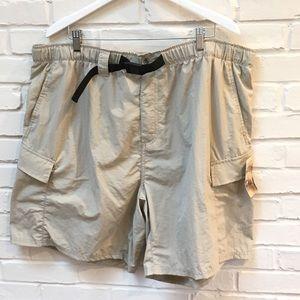 Rugged Earth 🌍 2XL belted nylon cargo shorts